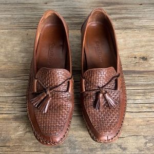 Cole Haan Country Brown Tassell Woven Loafers